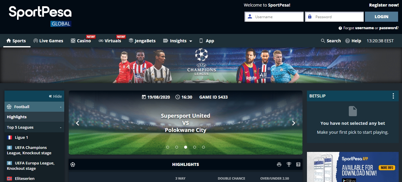 Double chance betting on sportpesa today texto mauro betting gremio fc